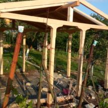 Изработка на дървена беседка