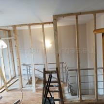 Изграждане на дървена стена 02