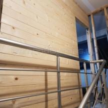 Изграждане на дървена стена 03