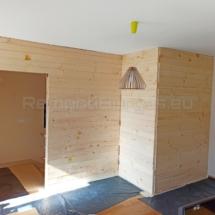 Изграждане на дървена стена 05