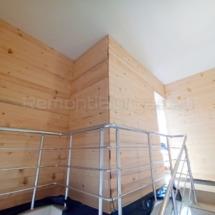 Изграждане на дървена стена 06
