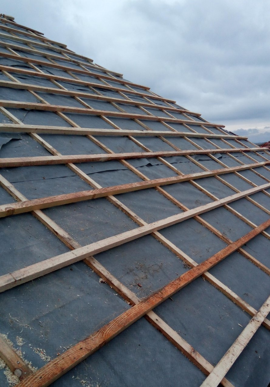 Ремонт на покрив - двойна скара